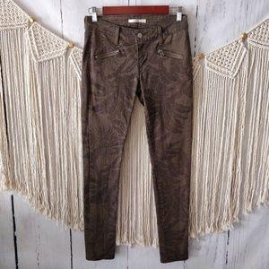 Levi's 711 Green Palm Frond Modern Skinny Jeans 26
